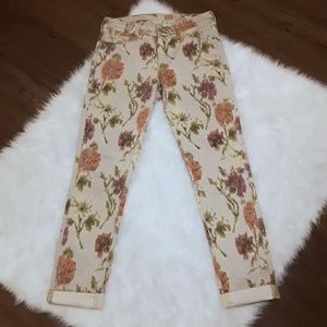 Size 27 Pilcro Anthro Floral Stet Skinny Jean